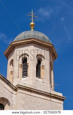 Serbian Orthodox Church In Kotor Old Town At Kotor Gulf In Montenegro