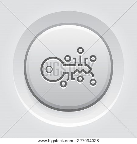 Encryption Key Icon. Modern Computer Network Technology Sign. Digital Graphic Symbol. Concept Design