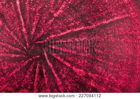 Very Old Red Grunge Wall Background Or Texture.