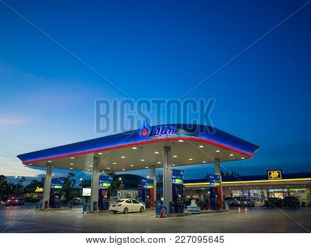 Bangkok, Thailand - June 23, 2017: Ptt Gas Station. Ptt Public Company Limited Or Simply Ptt Is A Th