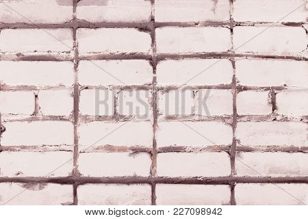 Empty Wall. Place For Text. Beautiful Background Of Light Brick.