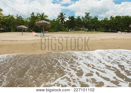 Tropical Resort On Caribbean Sea With Gold Sand, Manzanillo De Cuba
