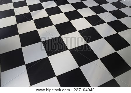Black And White Checkered Floor, Stock Photo