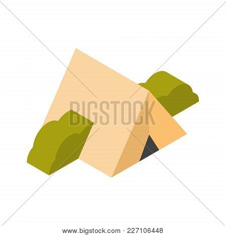 Camping Tent Icon 3d Isolated Active Travel Concept Vector Illustration