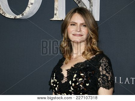 Jennifer Jason Leigh at the Los Angeles premiere of 'Annihilation' held at the Regency Village Theater in Westwood, USA on February 13, 2018.