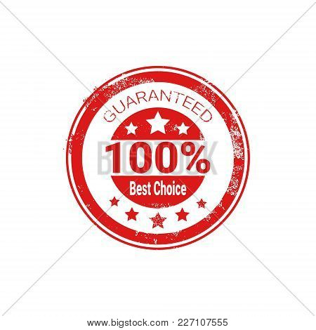 Best Choice Stamp Red Grunge Seal Isolated Sticker Icon Vector Illustration