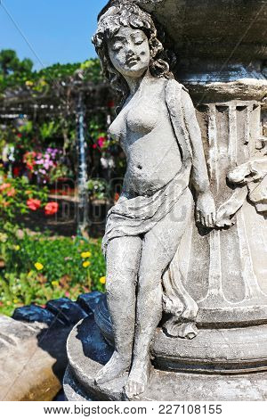 A Beautiful Woman Sculpture In The Park