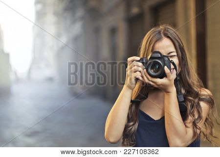 Photographer in the street