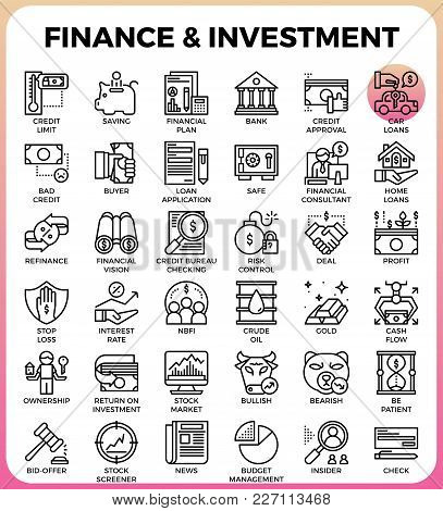 Finance & Investment Concept Line Icon