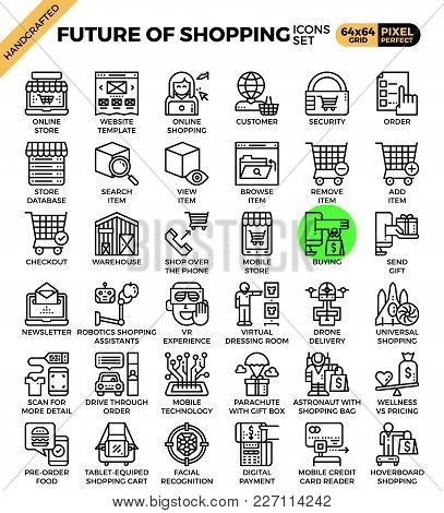 Future Of Shopping Concept Icons