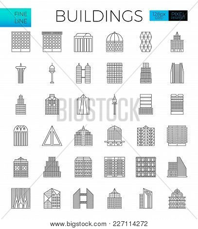 Building In The City Icons