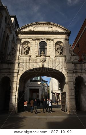 Temple Bar In London, England, October 6th, 2017