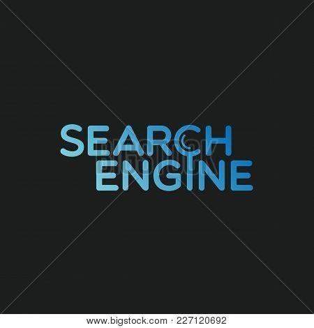 Search Engine Label Template Design. Vector Illustration.