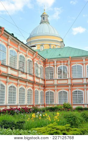 Alexander Nevsky Lavra, Ancient Monastery In Baroque Style In Center Of St.petersburg, Russia.