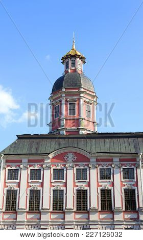 Church Of The Annunciation Of The Alexander Nevsky Lavra, Ancient Monastery In Baroque Style In Cent