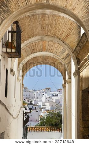 Streets Of A Town In Southern Spain
