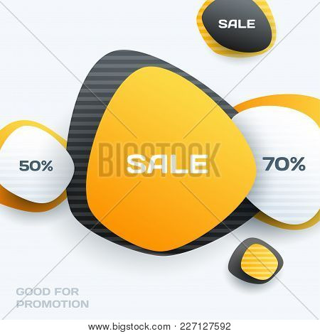 Abstract Vector Design Elements For Graphic Template. Creative Modern Business Background. Yellow Ro