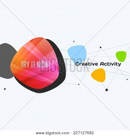 Abstract Vector Design Elements For Graphic Template. Creative Modern Business Background. Colourful