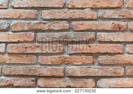Old Brown  Brick Wall Texture.old Wall Of Red Bricks. Red Brick Wall. Wallpaper Of Ordinary Building