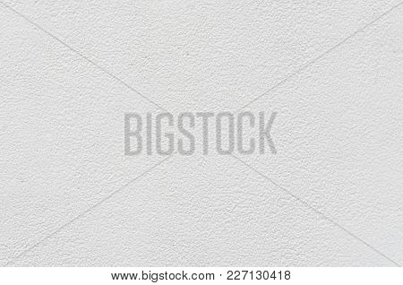 White Cement Or Concrete  Wall ,rock Plastered Stucco  Textured Background.