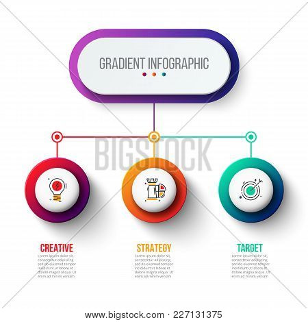 Abstract Gradient Infographics Number Options Template. Vector Illustration. Can Be Used For Workflo