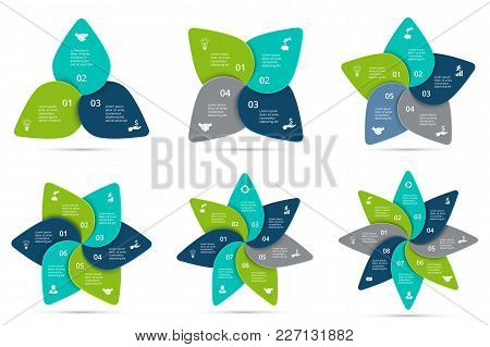 Vector Cycle Infographics Set. Template For Diagram, Graph, Presentation And Chart. Business Concept