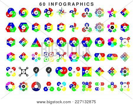 60 Coloured Infographic For Business, Easy To Edit