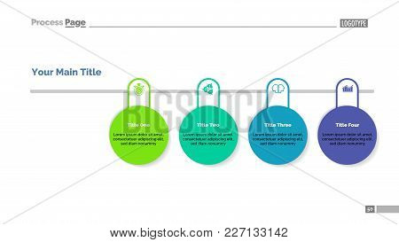 Process Chart With Four Circles. Inforchart, Project, Workflow. Information Concept. Can Be Used For