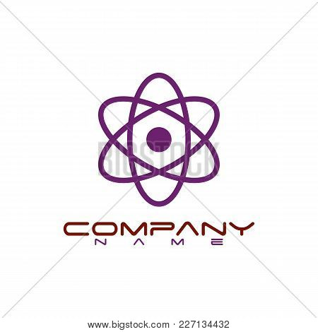 Icon Design Element. Abstract Logo Idea For Business Company. Orbit, Connect, Communication, Technol