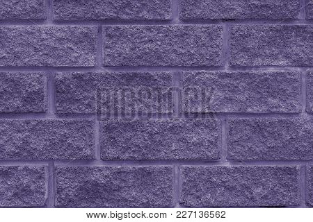 Stone Wall Of The Rectangular Bricks - Close Up (photo Is Toned In Ultra Violet)