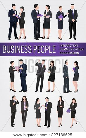 A Group Of Business People Who Interact Or Communicate With Each Other