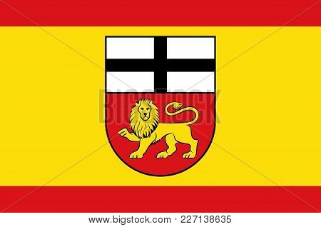 Flag Of The Federal City Of Bonn On The Banks Of The Rhine In The German State Of North Rhine-westph