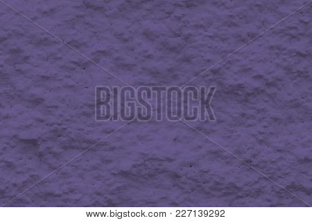 Background Sheeting Wall Of A Building - (plaster, Photo Is Toned In Ultra Violet)