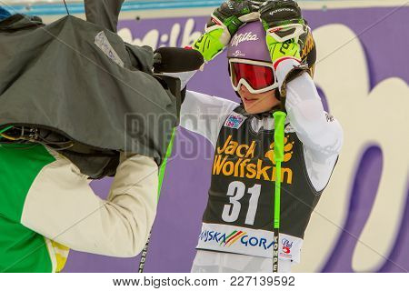 Anna Veith Stunned At Fis Ski World Cup Giant Slalom In Kranjska Gora On The 6th Of January 2018