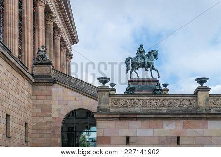 Prussian King Friedrich Wilhelm Iv. Altes Museum - Berlin, Germany