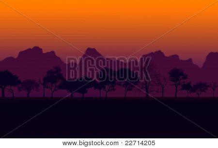 Afrika günbatımı vektör