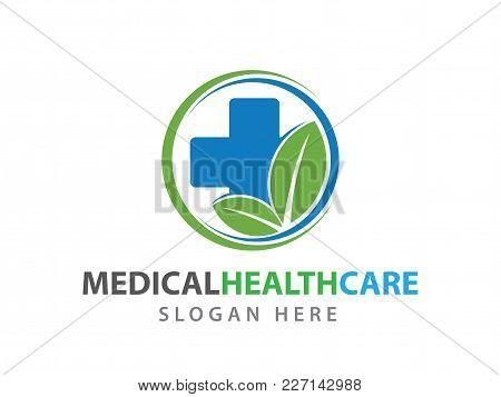Medical Health Wellness Clinic Vector Logo Illustration
