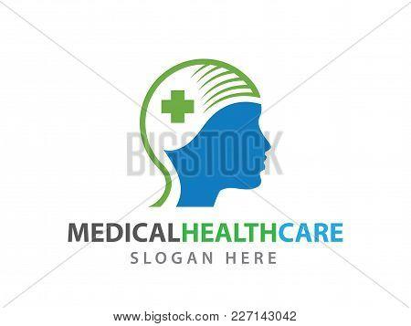 Human Nerve System Medical Health Wellness Clinic Vector Logo Illustration
