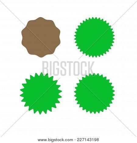 Set Of Icons Badges Starburst, Sunburst, Label, Sticker. Different Types And Colors Design Elements.