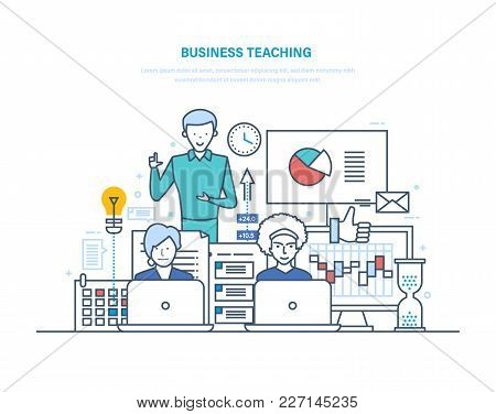 Business Teaching. Professional Business Trainings, Seminars, Motivation For Business Audience, Adva