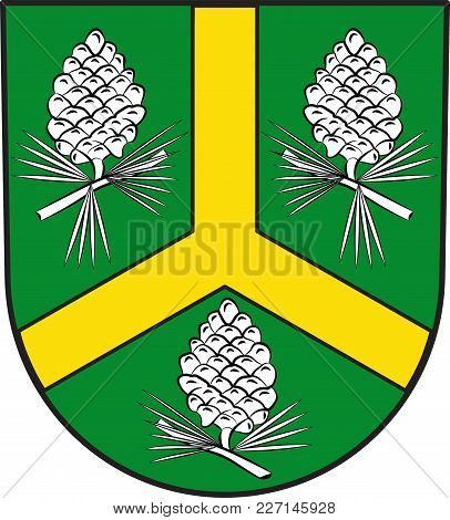Coat Of Arms Of Huertgenwald Is A Municipality In The District Of Dueren In The Federal State Of Nor
