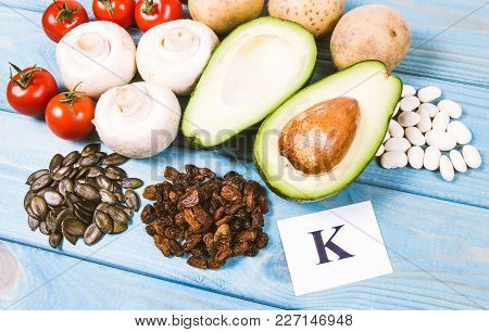 Ingredients Or Products Containing Potassium (k), Natural Sources Of Minerals, Healthy Lifestyle And