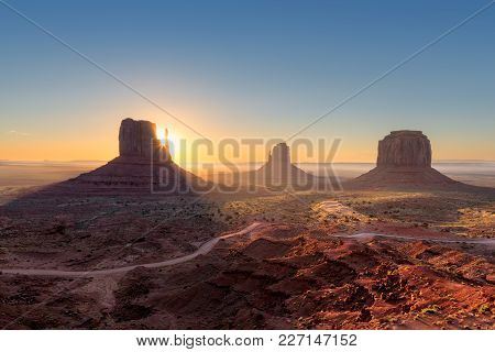 Arizona Landscape At Sunrise, Monument Valley , Utah, Usa