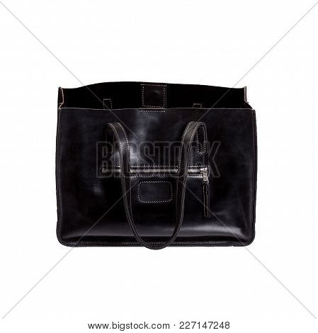 Black Women Bag Isolated. High Resolution Photo.