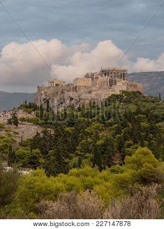 Acropolis View From Filopappou Hill View Point