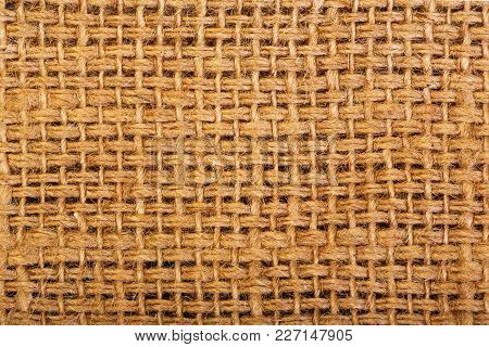 Texture Of Sacking Or Hessian Or Burlap Material, Gunny Sack Natural Background.