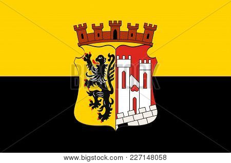 Flag Of Juelich Is A Town In The District Of Dueren, In The Federal State Of North Rhine-westphalia,