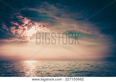 Beautiful Sunset On The Ocean Sea