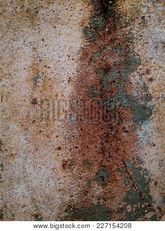 Colour. Paint On The Old Concrete Wall. Crack. Background Texture