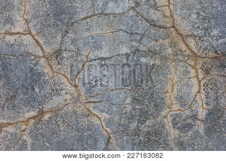 Grunge Cracked Concrete Wall. Old Damaged Texture